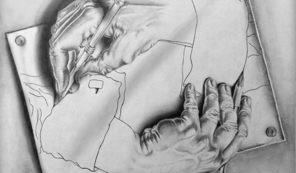 Drawing Hands - Maurits Cornelis Escher