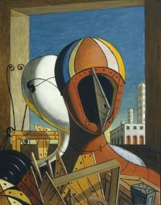 Giorgio-de-Chirico-Le-maschere-1959-oil-on-canvas-cm-505x40