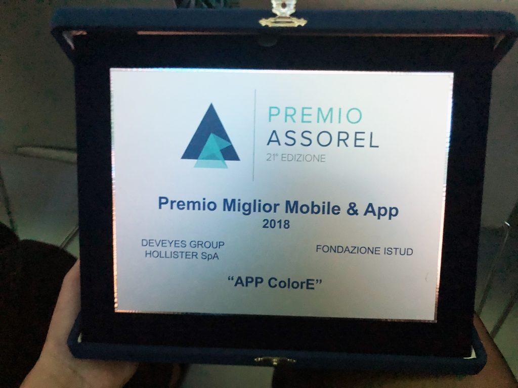 colorE s'aggiudica il Premio ASSOREL come miglior mobile APP