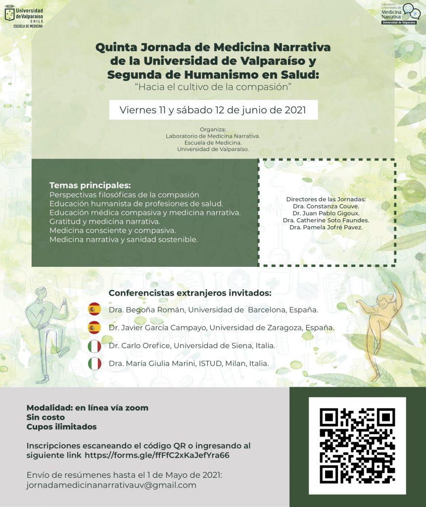 Webinar di Medicina Narrativa dell'Universidade de Valparaiso