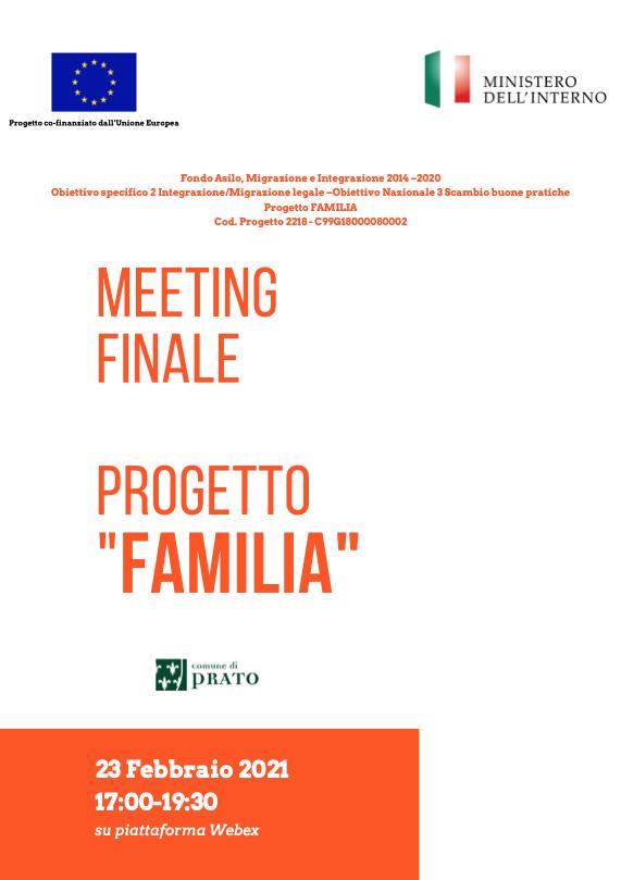 Convegno finale del Progetto FAMILIA